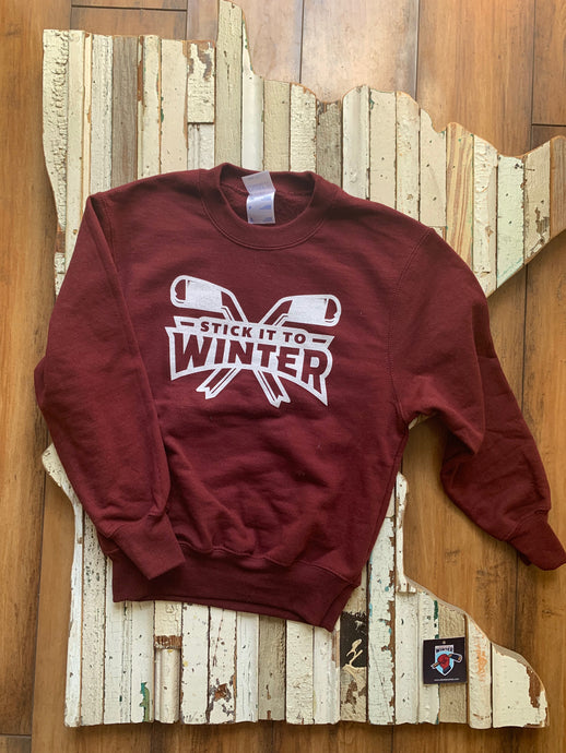 Youth Crossed Hockey Sticks Pullover