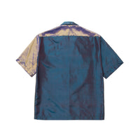 Petrol Silk Shirt Moonstone