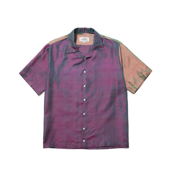 Petrol Silk Shirt Purple Rain