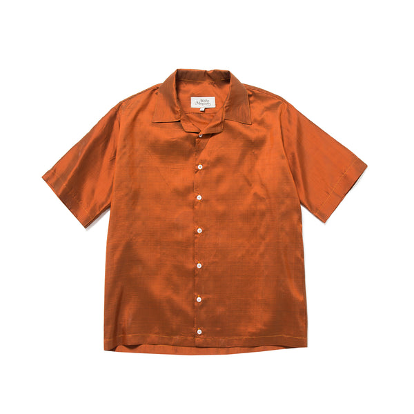 Petrol Silk Shirt Burnt Orange