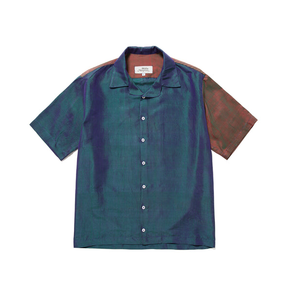 Petrol Silk Shirt Aquamarine