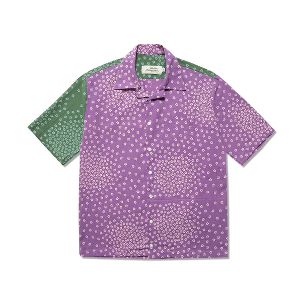 Sashiwake Blossom Shirt Grape Seaweed