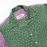 Sashiwake Blossom Shirt Seaweed Grape
