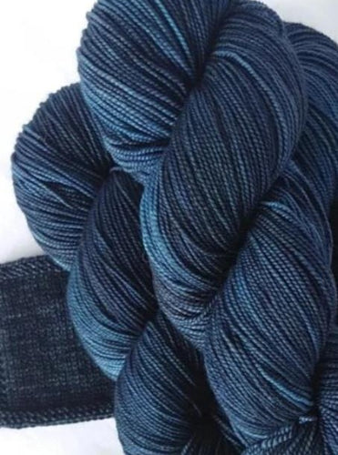 Merino 4ply high twist - Midnight blues