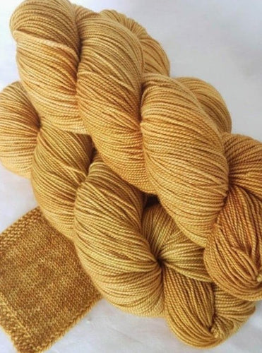 Merino 4 ply high twist - Old gold