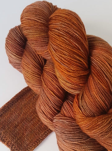 Merino 4 ply high twist -Tawny