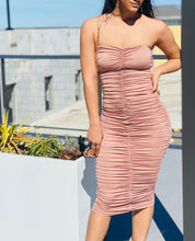 "Load image into Gallery viewer, ""Angel On Earth"" Mauve Ruched Dress"