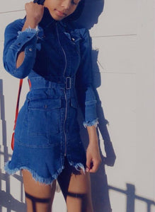 """Lucky You"" Denim Dress"
