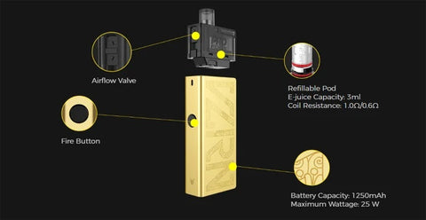 Uwell valyrian pod features