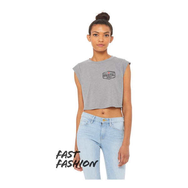 Bristol Republic Pocket Logo Womens Crop Top