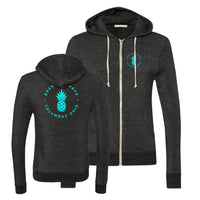Alt Apparel - Brekkie Shack Logo Teal Unisex Zip Up
