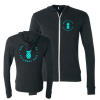Brekkie Shack Logo Teal Unisex Lightweight Zip Up