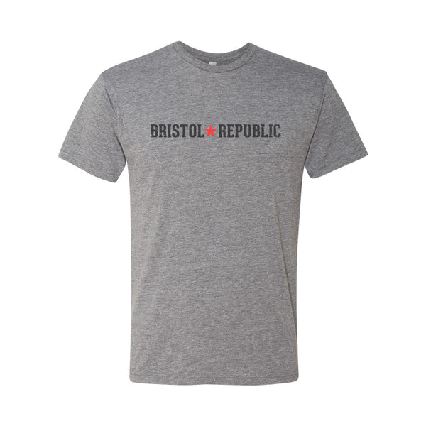 Bristol Republic Line Logo Men's Tri-Blend T-Shirt