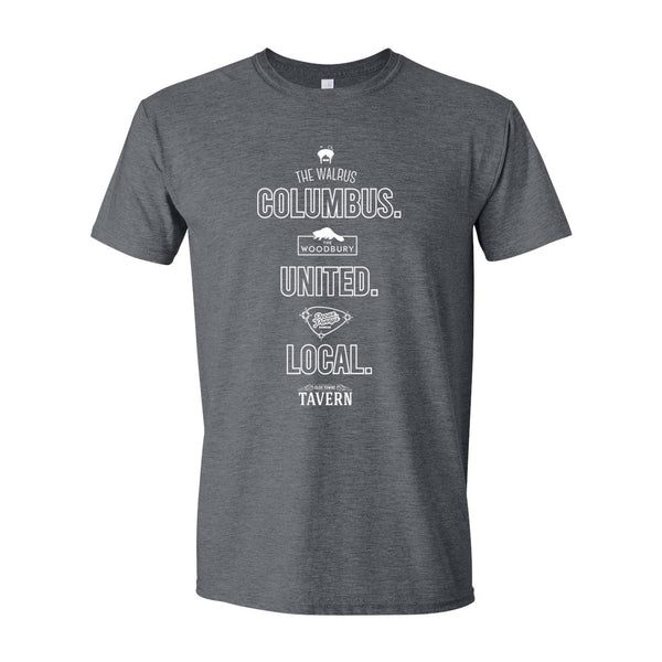Columbus United Logo - Olde Towne Partners - Unisex Soft Blend T-Shirt
