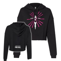 Short North Food Hall - Laser Bra - Crop Fleece Hoodie