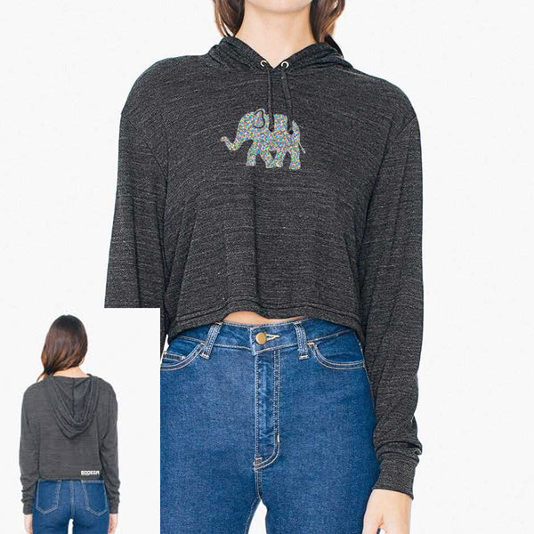 Bodega Elephant Women's Crop Fleece