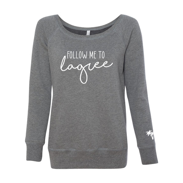 Follow me to Lagree - TLM - Off Shoulder Sweatshirt