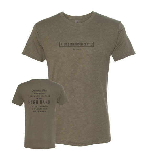 High Bank Men's Army Tri-Blend T-Shirt