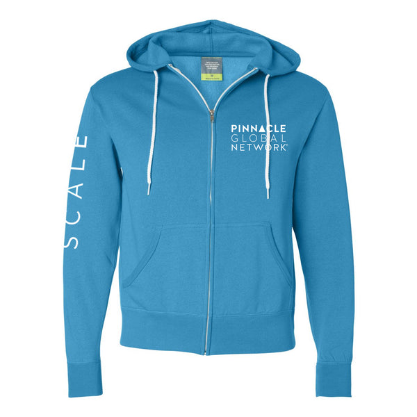 PGN - SCALE- Turquoise Unisex Zip Up
