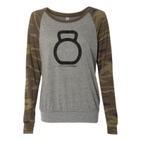 StudioTorch Bell Logo Womens Camo Pullover