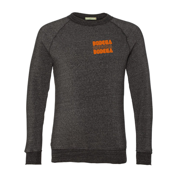 Bodega Retro Orange Unisex Eco Crewneck