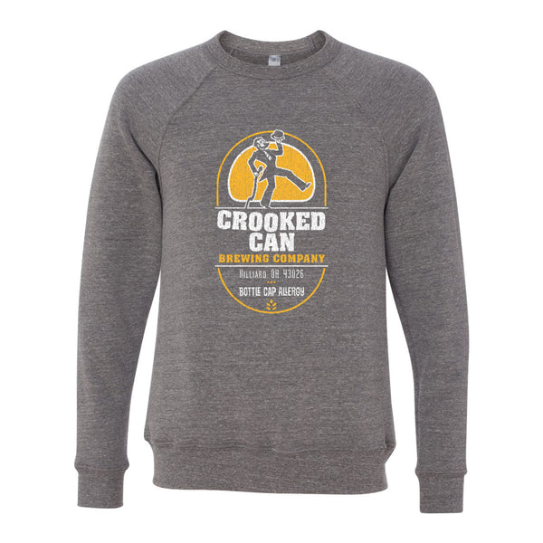Crooked Can Logo Unisex Crewneck
