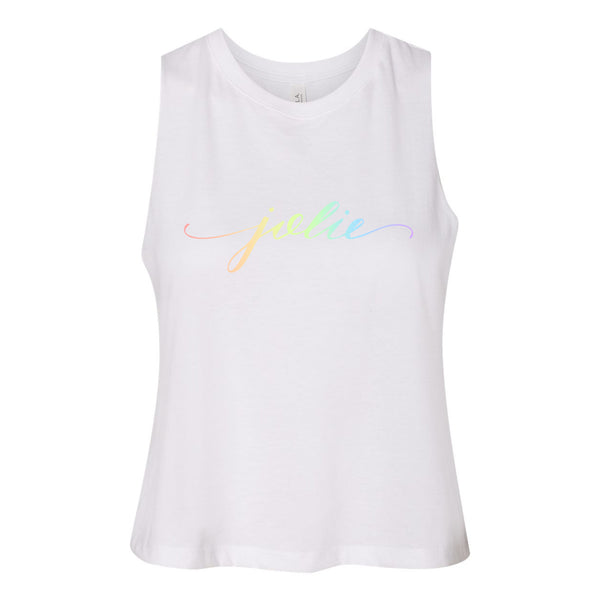 Pride Jolie Fleece Crop Tank