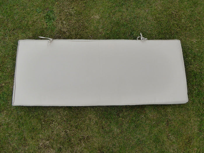 BEIGE 2 Seater Metal Bench Cushion 109x42x6