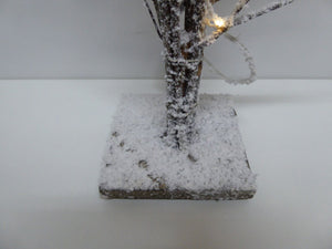 Snowy Twig Branches With Lights BO