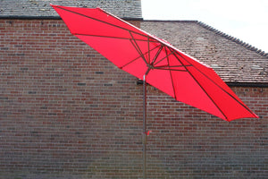 Large 3m Red Crank And Tilt Garden Parasol Umbrella 300cm  Metal Pole