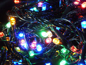 Christmas Tree Fairy Lights - Set of 100 Multi Colour Indoor Outdoor Battery Operated Multi Action Timer LED Christmas Lights