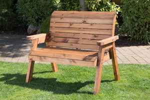 UK-Gardens  Handmade Fully Assembled Heavy Duty Wooden Garden Bench - 2 Seater Bench