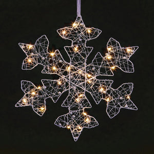 38cm Silver Christmas Hanging Decoration 30 WW BO 4 Styles