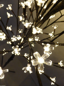 1.8m 6ft Warm White Christmas Blossom Tree Xmas Decoration With LED Lights