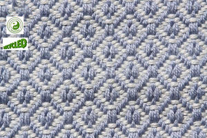 UK Gardens 120cm Diamond Grey Blue Rug Recycled Textiles