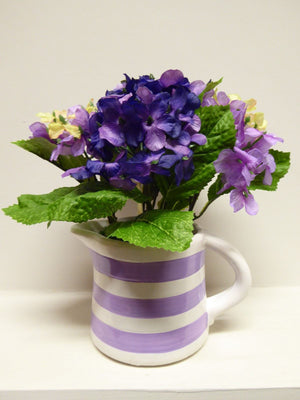 Artificial Potted 26cm Large Hydrangea Plant In Jug