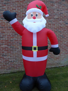 UK-Gardens Large Inflatable Father Christmas Santa Decoration 240cm 8ft Tall With 8 LED Lights Indoor Outdoor Use