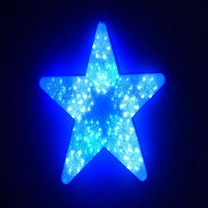 40cm Blue and White LED Digital Window Star Light - Christmas Lights Decoration Indoor Use Only