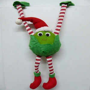 30cm Sid the Sprout Large Felt Hanging Shelf Sitter - Red and Green Christmas Decoration