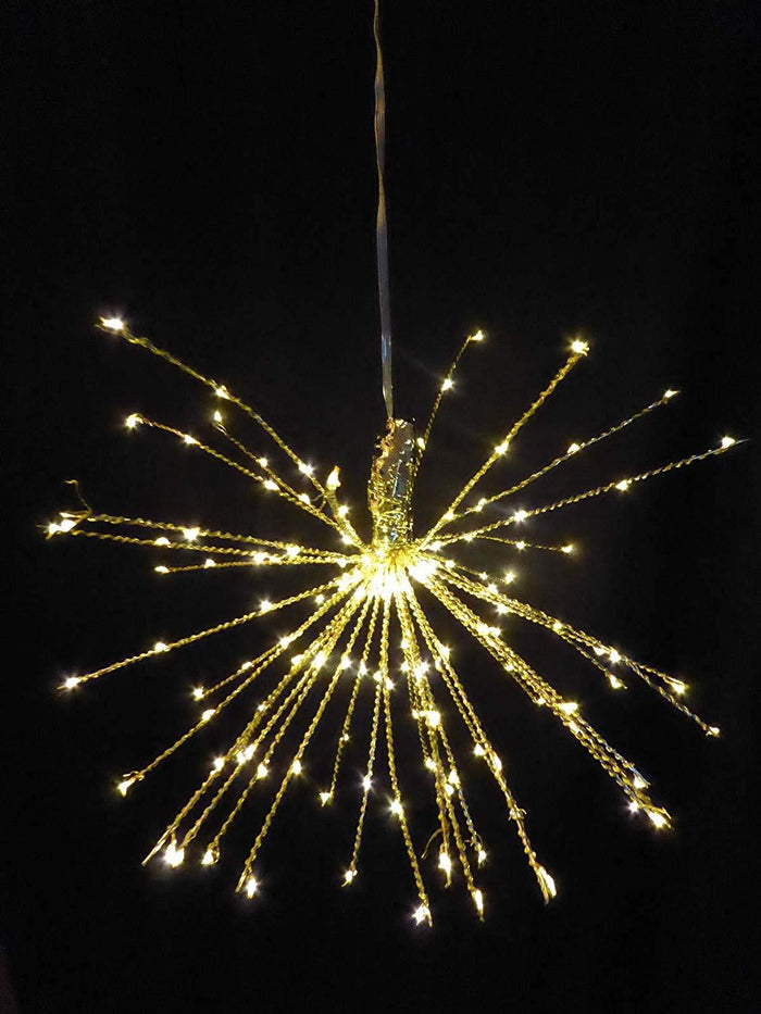 40cm Large Battery Operated LED Lit Copper Starburst Indoor Use - Multi Function