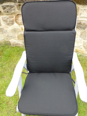 Garden Furniture Cushion - Black Recliner Chair Cushion For Large Chair 116x48x6