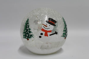 Snowman 15cm Crackle Ball
