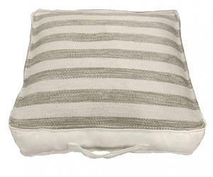 UK Gardens 50cm Stripe Grey Recycled Textile Cushion