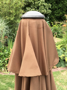 Large Brown 2.7m Crank And Tilt Garden Parasol Umbrella