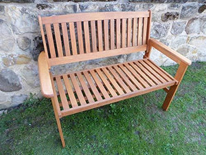 UK-Gardens Heavy Duty Wooden 2 Seater Garden Bench Quality Hardwood