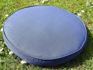 Navy Blue Bistro Chair Round Seat Pad Cushion 38x5