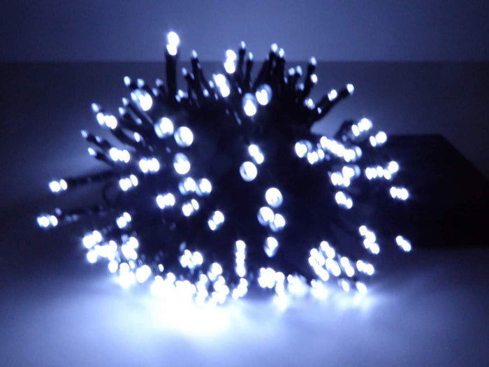 Set of 200 Bright White Indoor Outdoor Battery Operated Multi Action Timer LED Christmas Tree Fairy Lights
