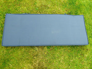 NAVY BLUE 2 Seater Metal Bench Cushion 109x42x6