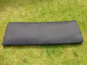 BLACK 3 Seater Bench Cushion 143x48x6