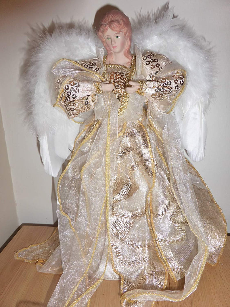 30cm Large Gold Fairy Angel Christmas Tree Topper